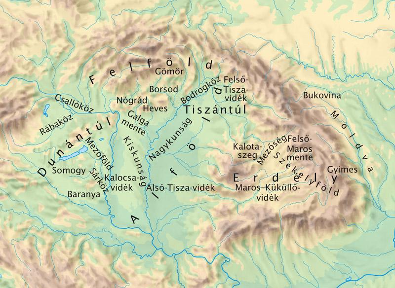 magyarország térkép tájegységek Sosednji narodi in kulture magyarország térkép tájegységek